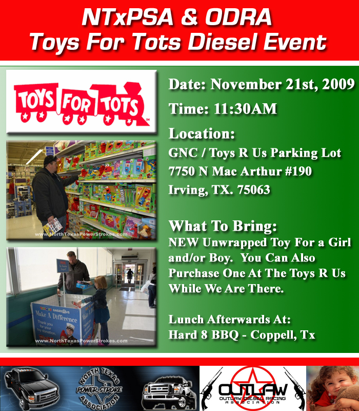 Toys For Tots Advertisement : Ntxpsa odra event toys for tots diesel run nov st