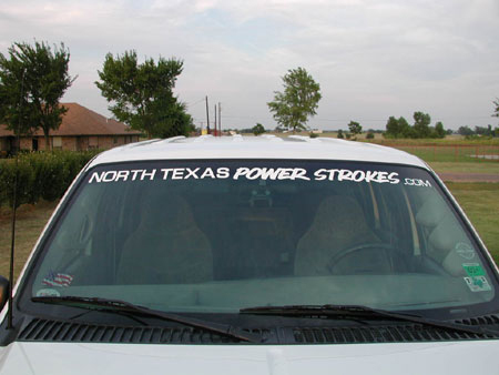 North Texas Power Stroke Association Online Store Decals - Truck windshield decals
